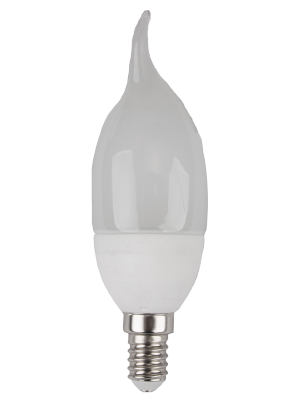 Ampoule LED 6W 230V E14 - Bougie Flamme - Blanc Chaud