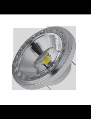 Spot LED 15W AR111 GX53 12V - Angle du faisceau 20 - LED SHARP - Blanc Chaud