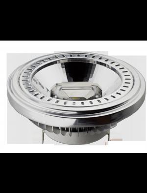 Spot LED 15W AR111 GX54 230V - Angle du faisceau 20 - LED SHARP - Blanc Chaud - DIMMABLE