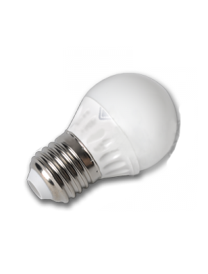 Ampoule LED - 4W 230V E27 P45 - Epistar - Blanc chaud