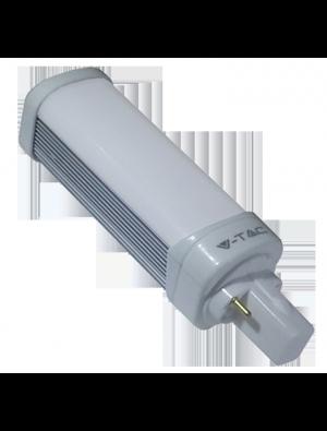 Ampoule LED 10W 230V G24 PL - Verre - Blanc Chaud
