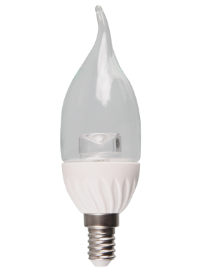 Ampoule LED - 4W 230V E14 - Bougie Flamme Cristal - Blanc naturel