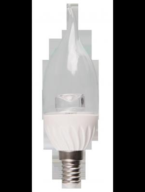 Ampoule LED - 4W 230V E14 - Bougie Flamme Cristal - Blanc chaud