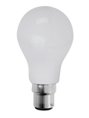 Ampoule LED - 7W 230V B22 A60 - Thermoplastique - Blanc chaud