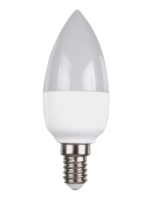 Ampoule LED - 6W 230V E14 - Bougie - Blanc chaud