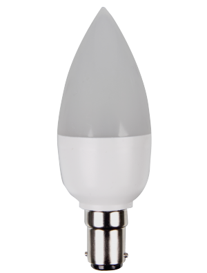 Ampoule LED - 5W 230V B15 - Bougie - Blanc chaud