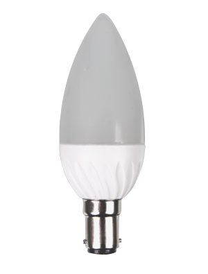 Ampoule LED - 4W 230V B22 - Bougie - Blanc chaud