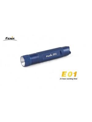 Lampe Fenix E01 couleur bleue