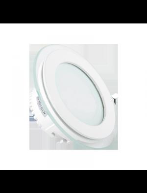Panneau encastrable LED 6W - en Verre Rond couleur modifiable - 3000K/4500K/6000K