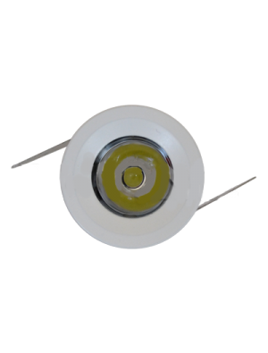 Spots LED encastrables 1W - Rond Mini PKW - Blanc chaud