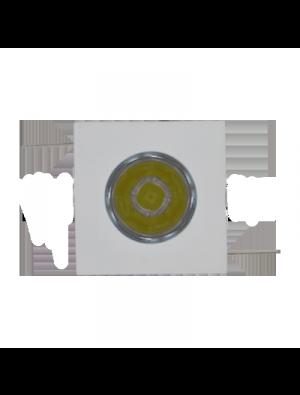 Spots LED encastrables 1W - Carré Mini PKW - Blanc chaud