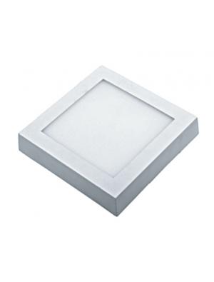Panneau de surface encastrable LED 8W - Carré - Blanc chaud