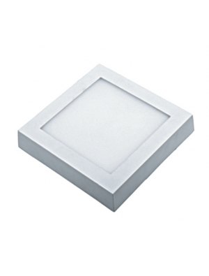 Panneau de surface encastrable LED 8W - Carré - Blanc naturel