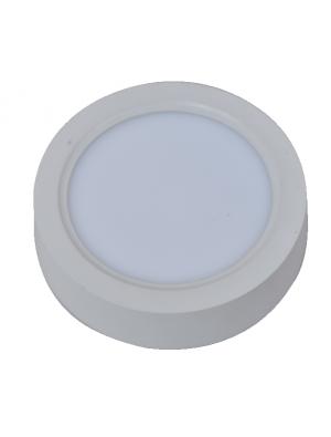 Panneau de surface encastrable LED 8W - Rond- Blanc chaud