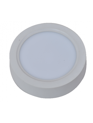 Panneau de surface encastrable LED 8W - Rond- Blanc froid
