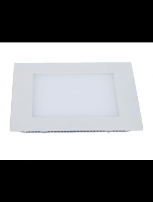 Mini panneau encastrable LED 8W - Carré sans pilote - Blanc chaud