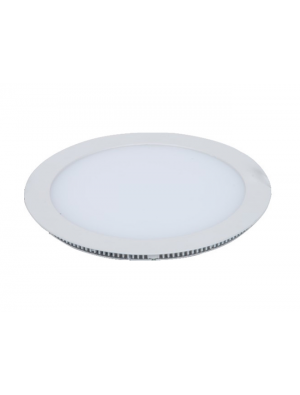 Mini panneau encastrable LED 8W - Rond sans pilote - Blanc chaud
