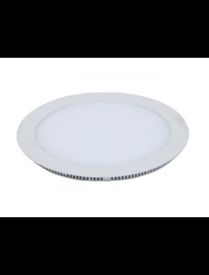 Mini panneau encastrable LED 22W - Rond sans pilote - Blanc chaud
