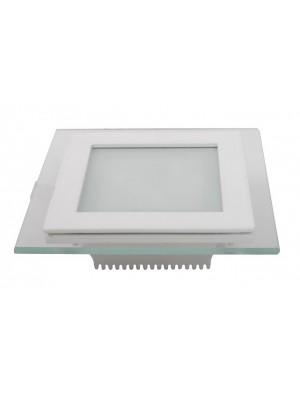 Panneau encastrable LED 6W - en Verre Carré couleur modifiable - 3000K/4500K/6000K