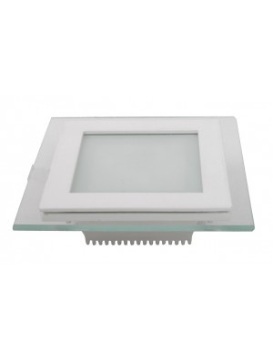 Panneau encastrable LED 18W - en Verre Carré couleur modifiable - 3000K/4500K/6000K