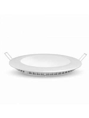 Panneau LED premium 6W 230V - Rond - Blanc chaud