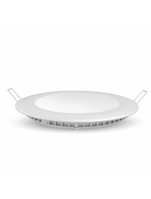 Panneau LED premium 12W 230V - Rond - Blanc chaud