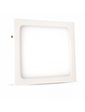 Panneau LED premium 6W 230V - Carré - Blanc chaud