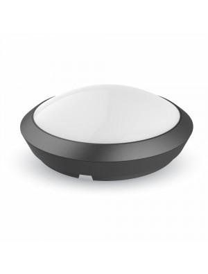 Lampe pour plafond rond - Noir IP66 avec détécteur - Blanc froid