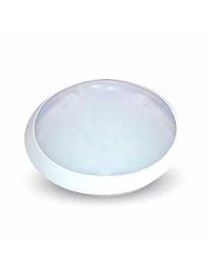 Lampe pour plafond rond - Blanc IP66 avec détécteur - Blanc froid