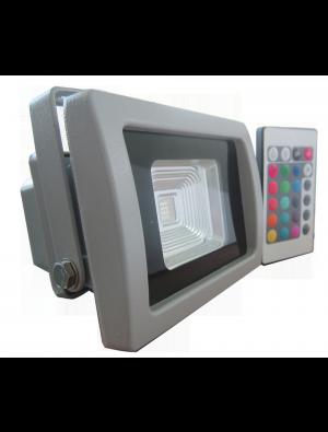 Projecteur LED 10W - Classique Premium RGB avec télécommande radio