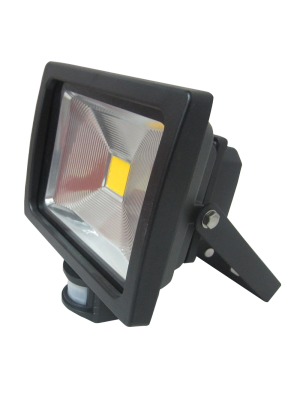 Projecteur LED 20W - Avec Détecteur Premium - Blanc chaud
