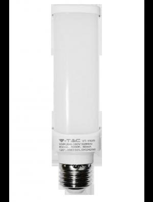 Ampoule LED 6W 230V E27 PL - Verre - Blanc Naturel