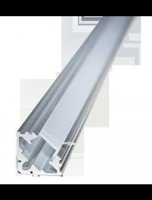 Profil d'aluminium de Cap étroit et plat transparent