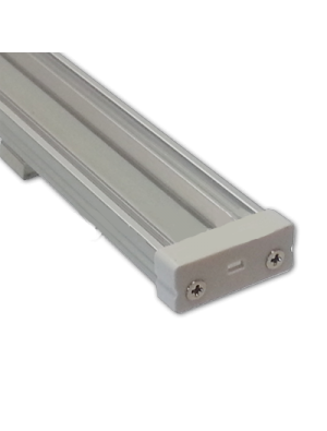 Profil d'aluminium large transparent