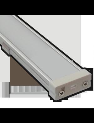 Profil d'aluminium large mat