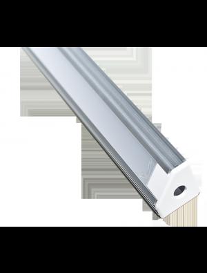 Profil d'aluminium au coin mat