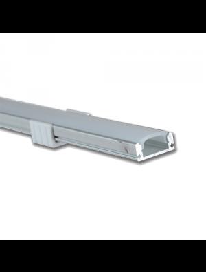Profil d'aluminium au coin MILKY étroit 200cm