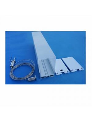 Profil d'aluminium au coin MILKY avec 2 Cordes 100cm