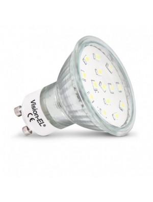 Spot LED GU10dichroïque 4W blanc naturel ou chaud
