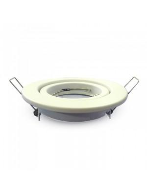 Montage pour spots LED GU10 - Rond mobile - Blanc