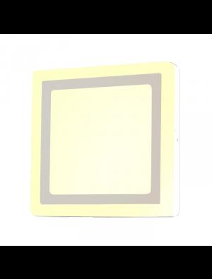 Mini panneau twin LED 8W 230V - Carré - Blanc chaud