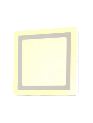 Mini panneau twin LED 8W 230V - Carré - Blanc froid