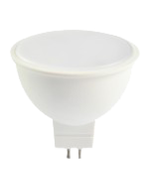 Spot LED 7W MR16 12V - Plastique SMD - Blanc chaud