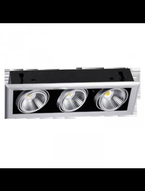 Lampes rail LED 3x23W 230V ar111 5000K