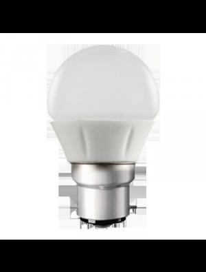 Ampoule LED 4W 230V E27 - Plastique et aluminium - Blanc Chaud