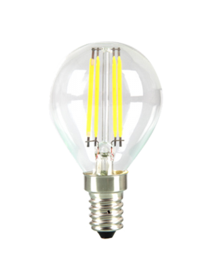 Ampoule LED 4W 230V E14 P45 - Verre - Blanc Chaud dimmable