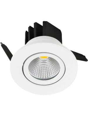Spots LED encastrables COB 3W - Rond - Blanc chaud
