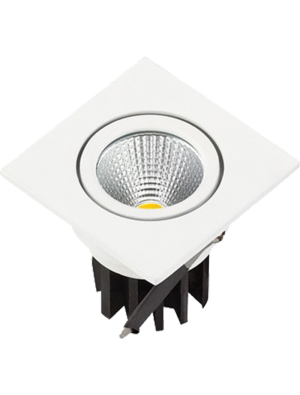 Spots LED encastrables COB 3W - Carré - Blanc chaud