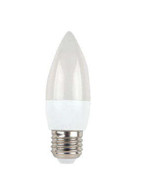 Ampoule LED 6W 230V E27 - Bougie - Blanc Chaud