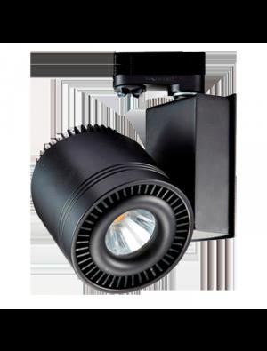 Lampe rail LED COB 33W - Noir - Blanc chaud